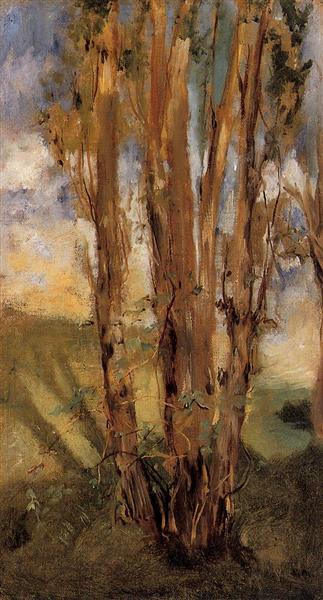 Study of trees, 1859 - Edouard Manet