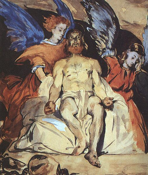 "Study to ""Dead Christ with Angels"", 1864 - Edouard Manet"