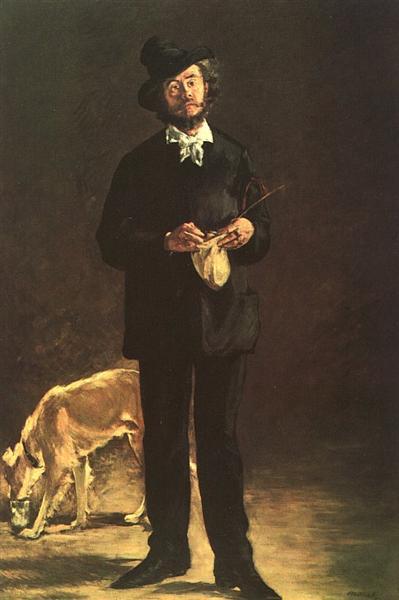 The Artist (Portrait of Gilbert Marcellin Desboutin), 1875 - Edouard Manet