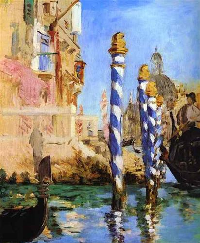 The Grand Canal - Edouard Manet