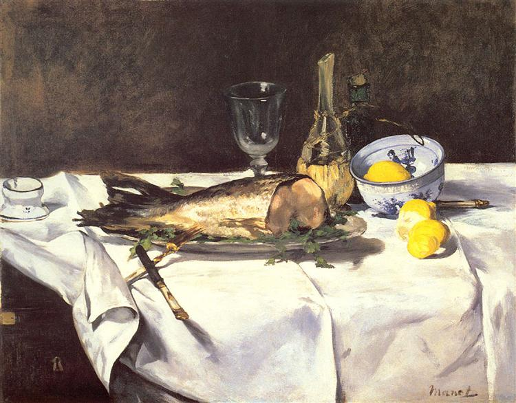 The salmon, c.1868 - Edouard Manet