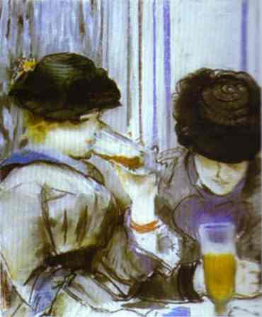 Two women drinking bocks, 1878 - Edouard Manet