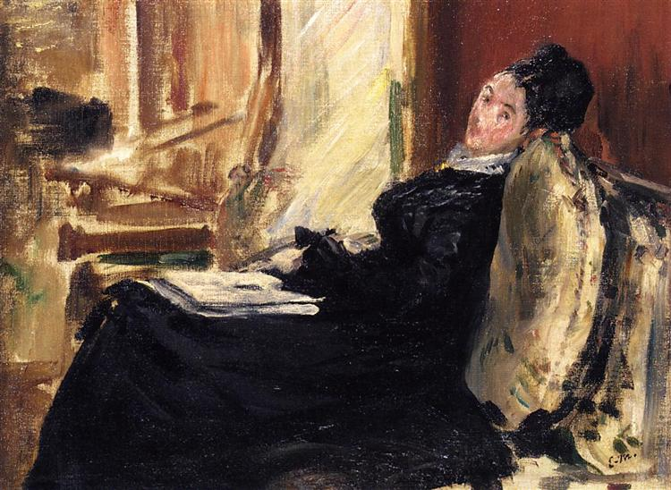 Young woman with a book, 1875 - Edouard Manet