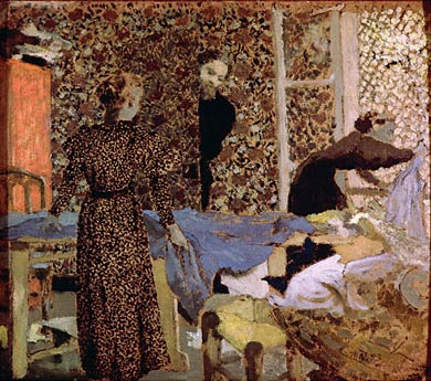 Interior of the work-table - Edouard Vuillard
