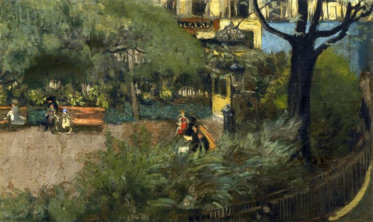 Square Berlioz (La Place Vintimille), 1915 - Édouard Vuillard