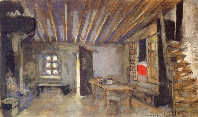 Studio Interior, Model for the Scenery of La Lepreuse, 1919 - Edouard Vuillard