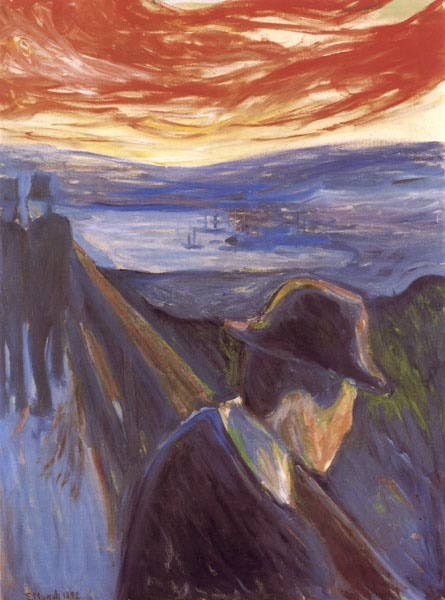 despair edvard munch Most of us know edvard munch as the man behind the  15 vivid facts about edvard munch  a series of 22 paintings that bore names like despair, melancholy,.