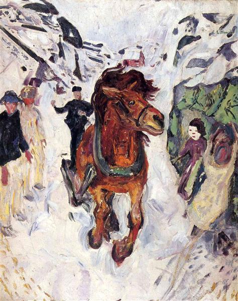 Galloping horse, 1910 - 1912 - Edvard Munch