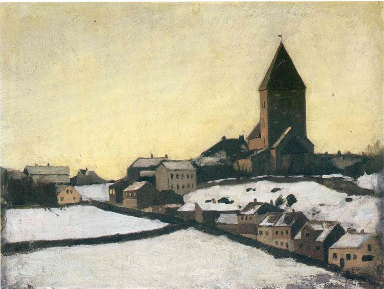 Old Aker Church, 1881 - Edvard Munch