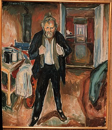 Self-Portrait (in distress), 1919 - Edvard Munch