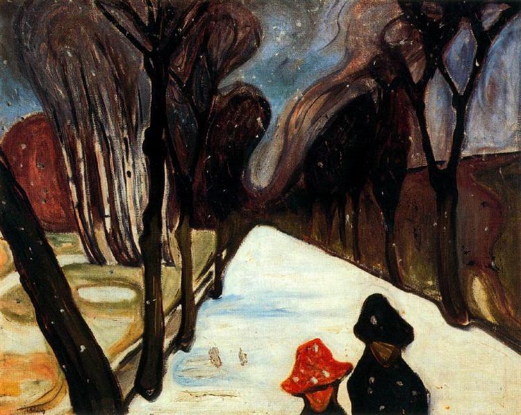 Snow Falling in the Lane, 1906 - Edvard Munch