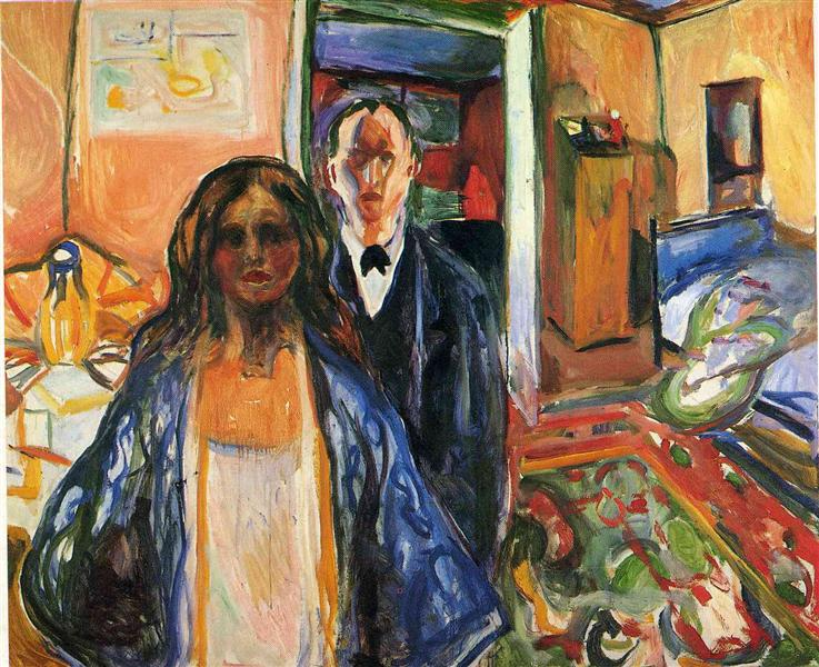 The Artist and His Model, 1919 - 1921 - Edvard Munch