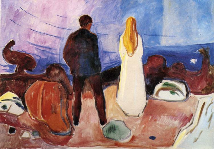 The Lonely Ones, 1935 - Edvard Munch