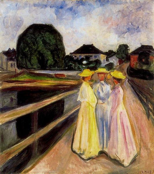 Three Girls on the Jetty, 1903 - Edvard Munch