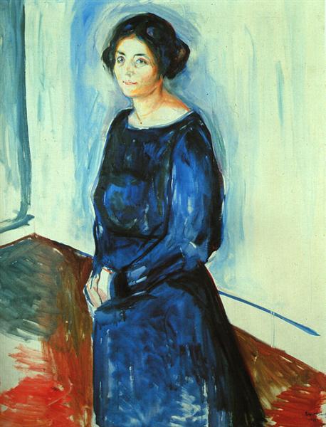 Woman in Blue (Frau Barth), 1921 - Edvard Munch