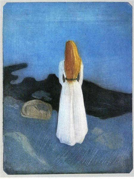 Young woman on the shore, 1896 - Edvard Munch