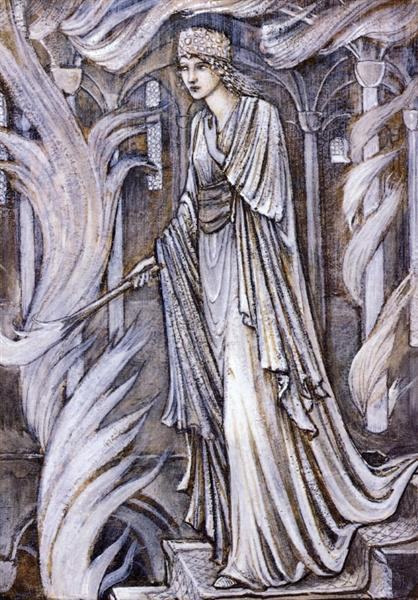 Gudrun Setting Fire to Atli's Palace, 1897 - Edward Burne-Jones