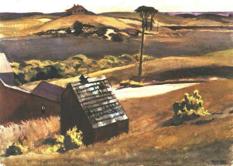 Burly Cobb Hen Coop and Barn, 1930 - Edward Hopper