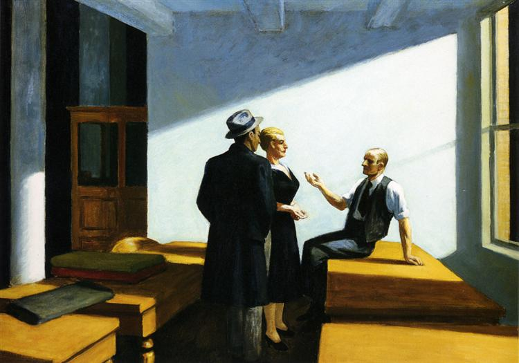 Conference At Night, c.1949 - Edward Hopper