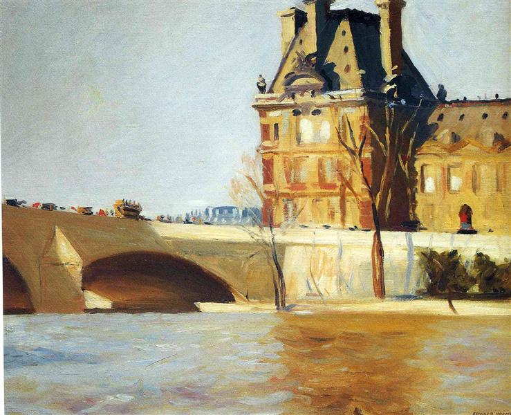 Le Pont Royal, 1909 - Едвард Хоппер