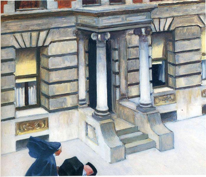 New York Pavements,, 1924 - Edward Hopper