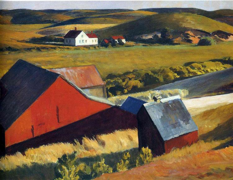 Cobbs Barns and Distant Houses, c.1930 - Edward Hopper