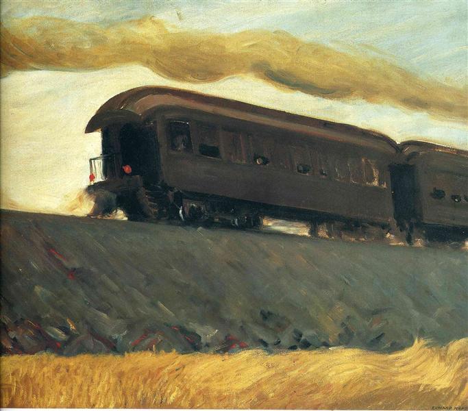 Railroad Train - Edward Hopper