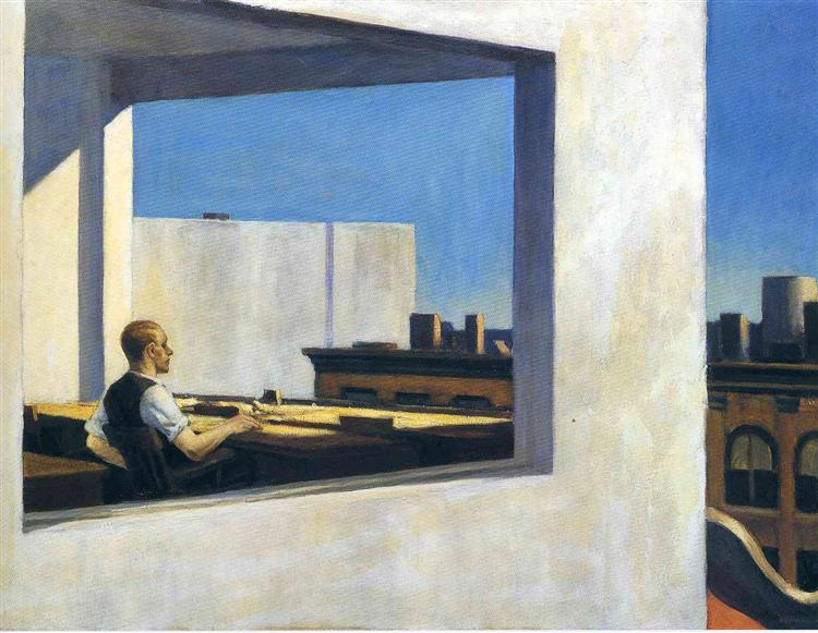 Office in a Small City, 1953 - Edward Hopper