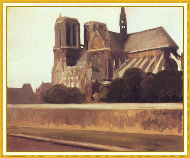 Notre Dame, 1907 - Edward Hopper