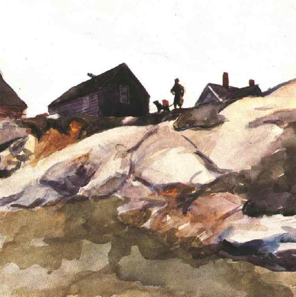 Rocks at the Fort Gloucester, 1924 - Эдвард Хоппер