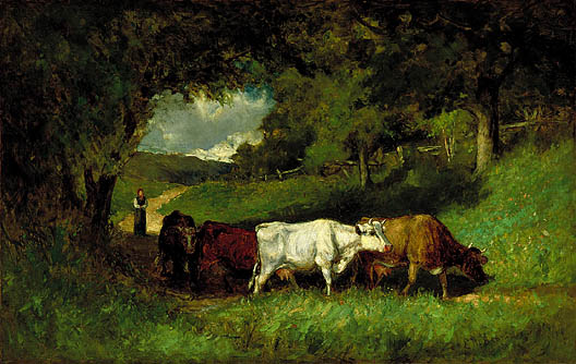 Driving Home the Cows - Edward Mitchell Bannister
