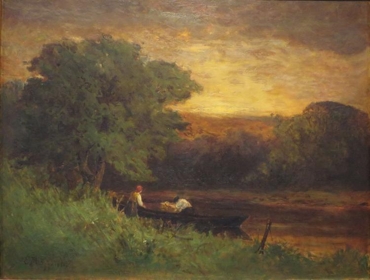 River Scene - Edward Mitchell Bannister