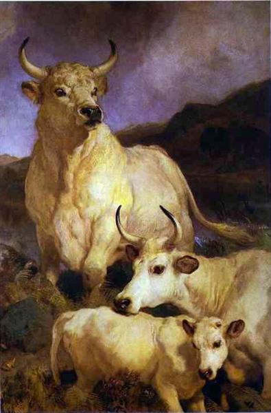 The Wild Cattle of Chillingham - Edwin Henry Landseer