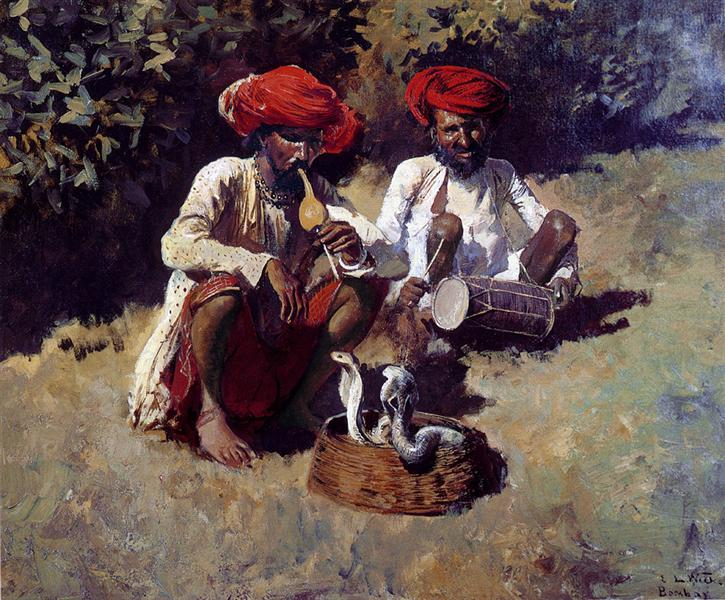 The Snake Charmers, Bombay - Edwin Lord Weeks