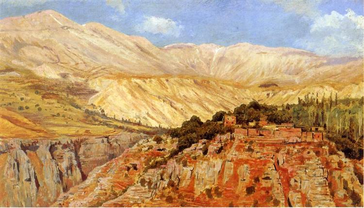 Village in Atlas Mountains, Morocco - Edwin Lord Weeks