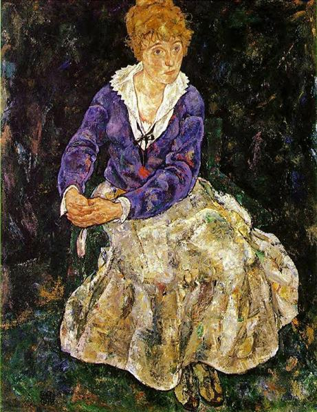 The Artist's wife seated, 1918 - Egon Schiele
