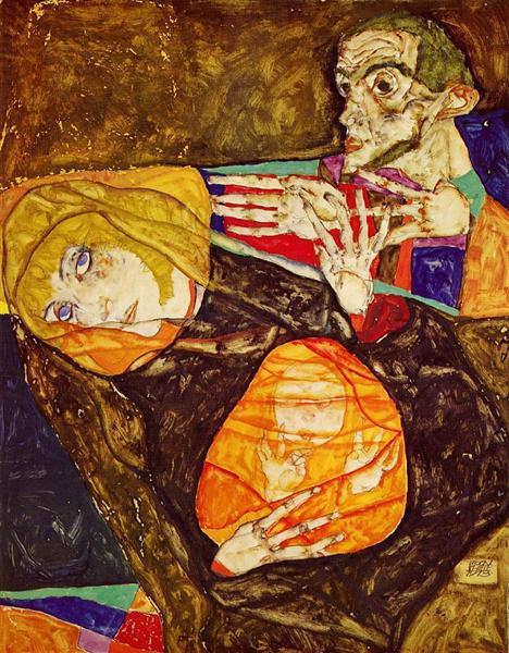 The Holy Family, 1913 - Эгон Шиле