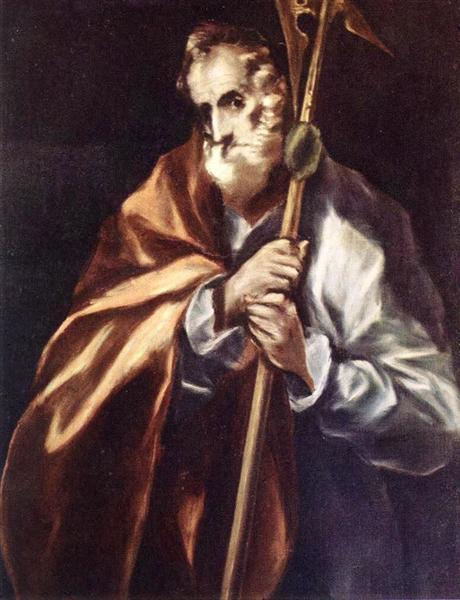 Apostle St. Thaddeus (Jude), c.1612 - El Greco