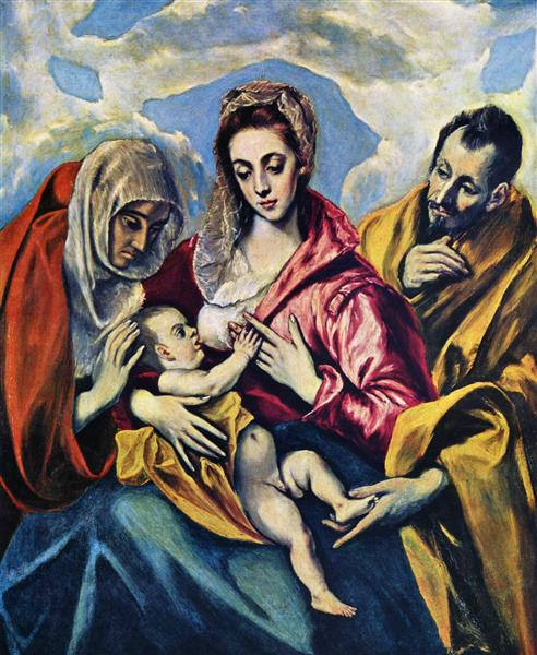 Holy Family with St. Anne, c.1605 - El Greco