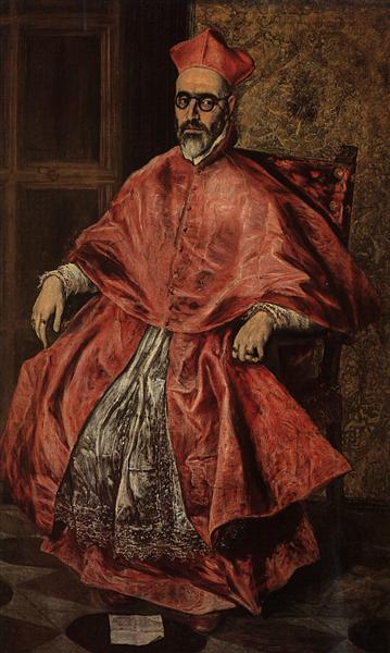 Portrait of a Cardinal (Probably Cardinal Don Fernando Niño de Guevara), c.1598 - El Greco