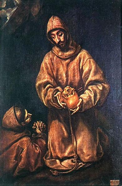 St. Francis and Brother Rufus, 1606 - El Greco