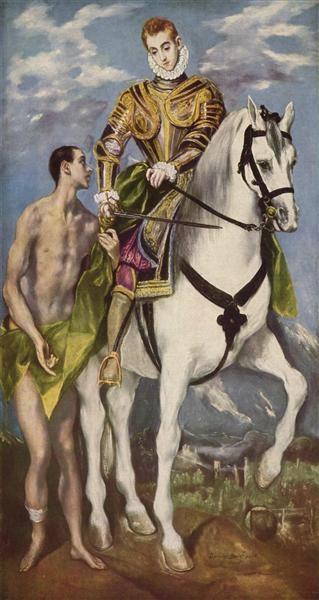 St. Martin and the Beggar, c.1598 - El Greco