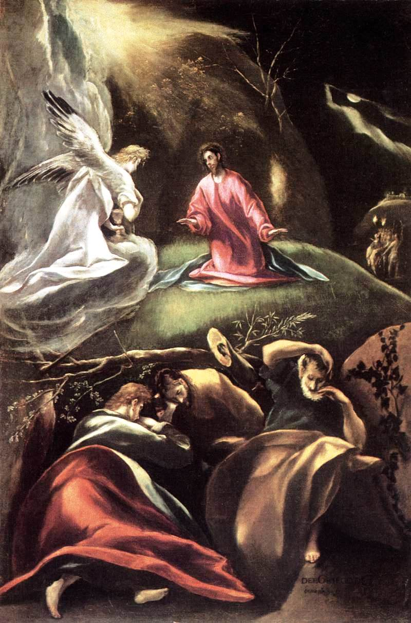 The Agony in the Garden - El Greco - WikiArt.org: http://www.wikiart.org/en/el-greco/the-agony-in-the-garden-1