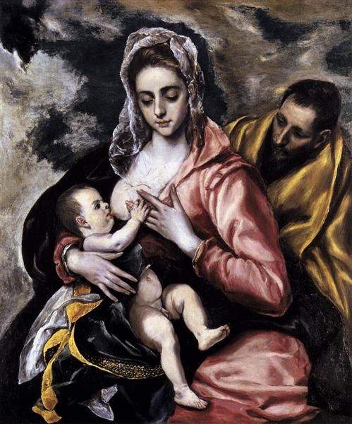 The Holy Family, c.1585 - El Greco