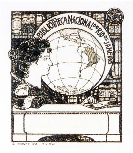 Ex Libris Bibliotheca Nacional, 1903 - Eliseu Visconti