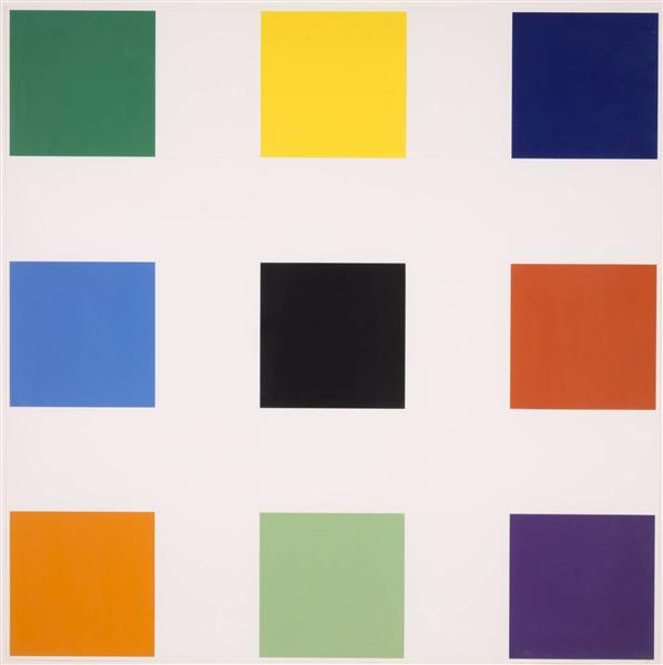Nine Squares, 1977 - Ellsworth Kelly
