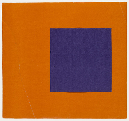 Purple and Orange from the series Line Form Color, 1951 - Ellsworth Kelly