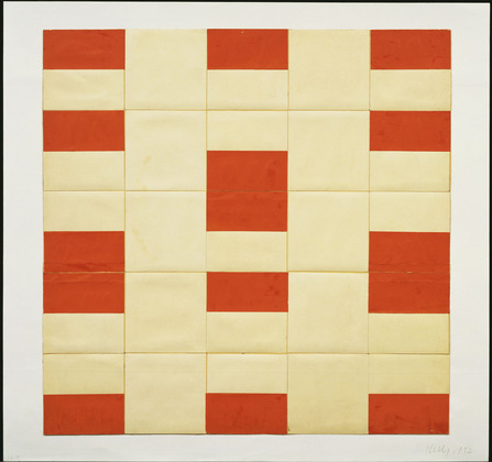 Red and White, 1952 - Ellsworth Kelly