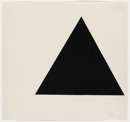 Triangle Form, 1951 - Ellsworth Kelly