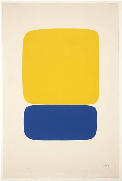 Yellow over Dark Blue, 1965 - Ellsworth Kelly
